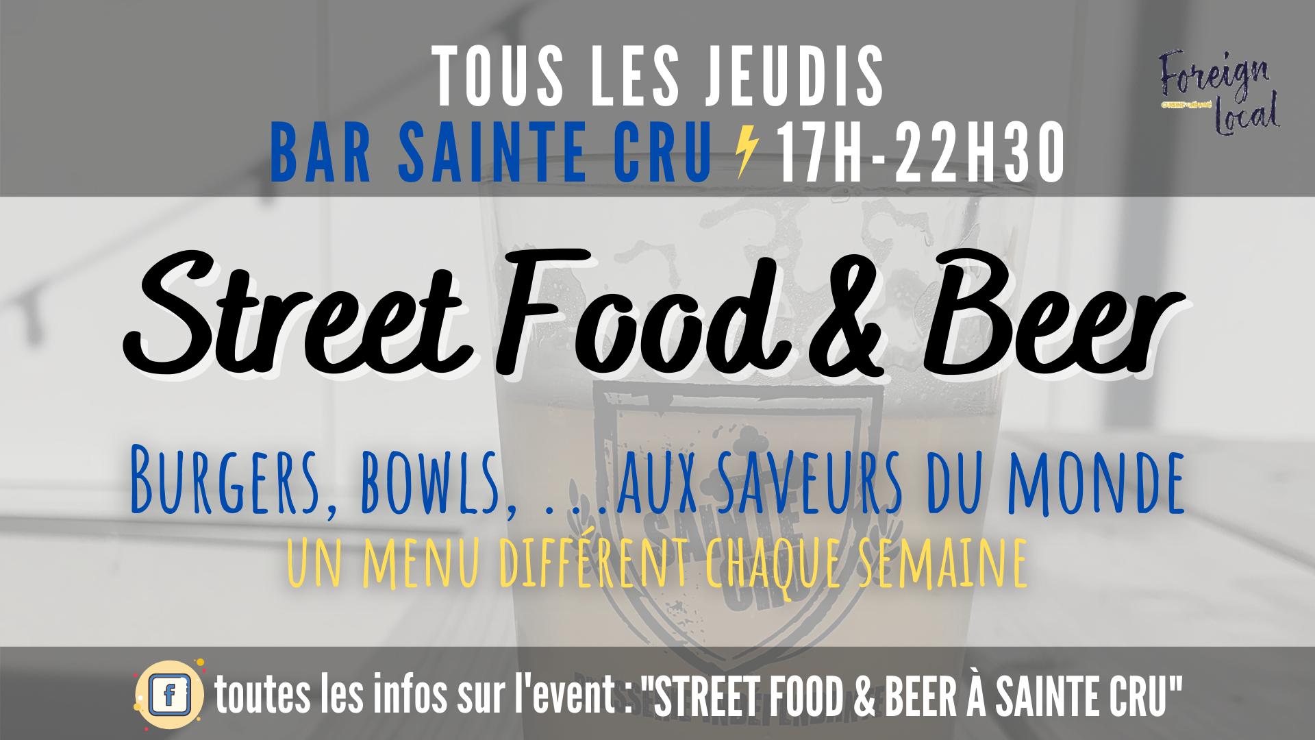 Tous les jeudis street food à Sainte Cru