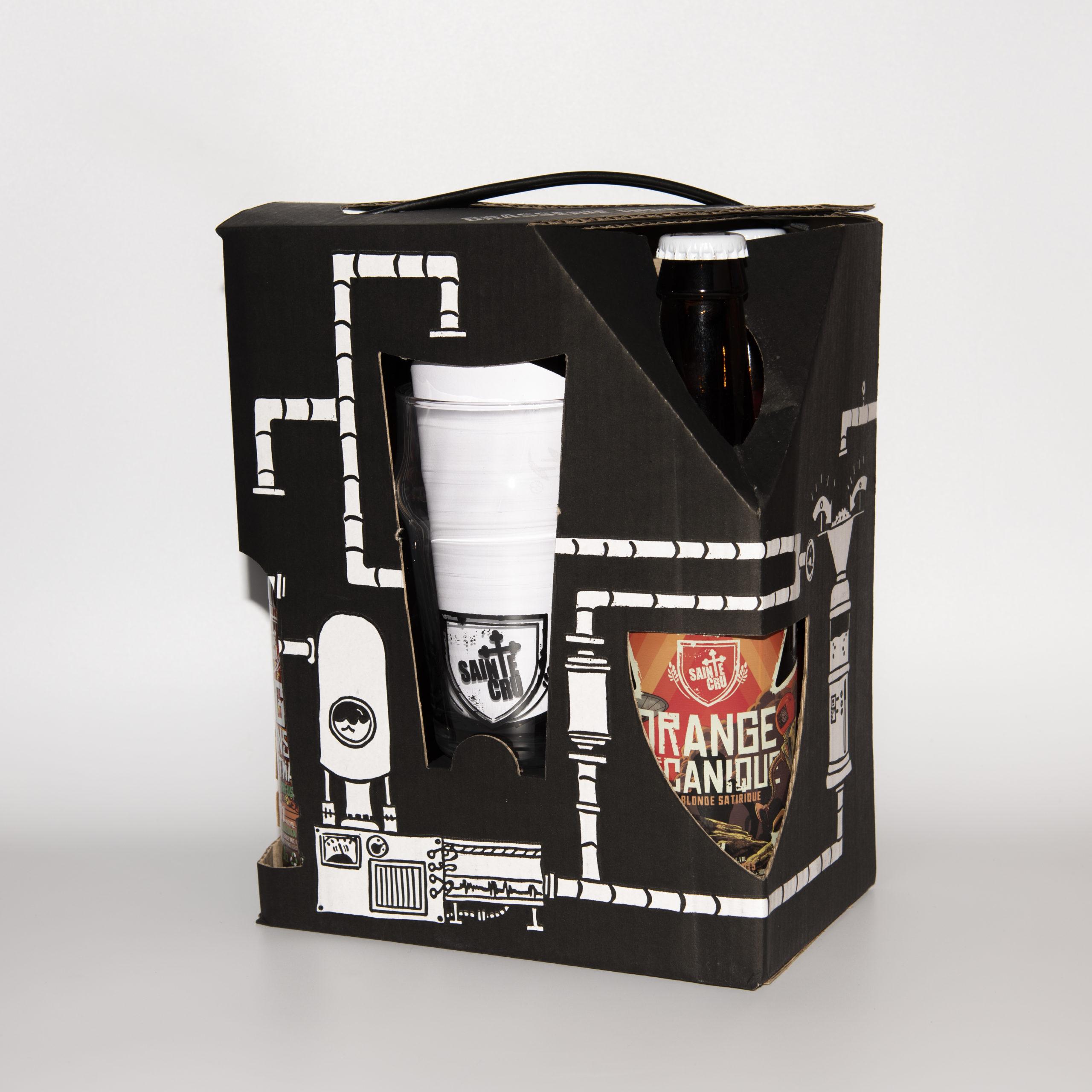 Pack 5 bouteilles + verre face SAINTE CRU Colmar
